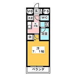 is常盤[5階]の間取り