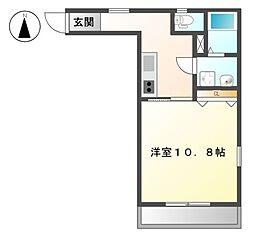 愛知県名古屋市東区新出来2丁目の賃貸アパートの間取り