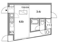 domino[304号室]の間取り