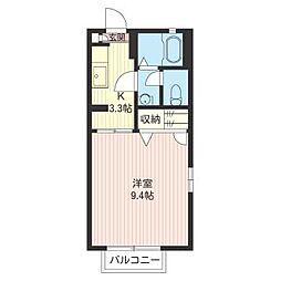 セルバB[2階]の間取り