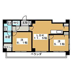 ALTA京都堀川ウインドア[6階]の間取り