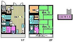 [一戸建] 埼玉県川口市芝2丁目 の賃貸【/】の間取り