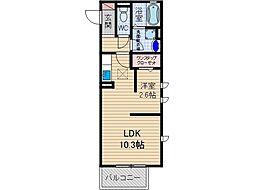 カムフォーラU[2階]の間取り