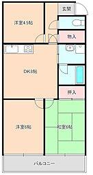 ライオンズマンション豊中第2[105号室]の間取り