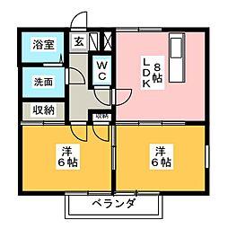 第1MHハウスC[1階]の間取り