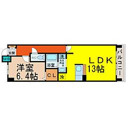 愛知県名古屋市中村区岩塚本通2丁目の賃貸マンションの間取り