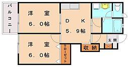 ボニートパルA[1階]の間取り