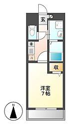 サニーコート[4階]の間取り