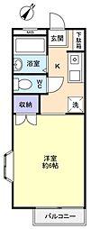 ヴァンヴェール新志津[2階]の間取り