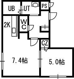 ブロッサムII[00203号室]の間取り