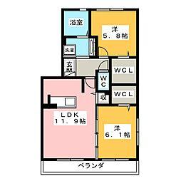 仮)D−room三ヶ名[1階]の間取り