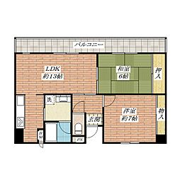 フロレセール茨木[1階]の間取り