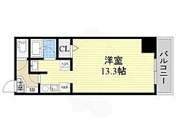 Sun State上飯田 9階ワンルームの間取り