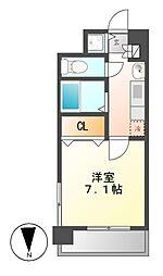 プレサンス名古屋STATIONアブソリュート[8階]の間取り