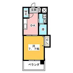 メゾンPINO[3階]の間取り