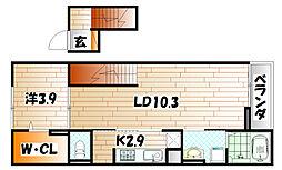 ワイツー・アパートメント[4階]の間取り