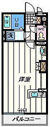 埼玉県草加市新里町の賃貸マンションの間取り