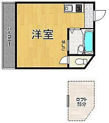 プチグレイス塚口本町壱番館[105号室]の間取り