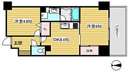 ライオンズプラザ神戸[7階]の間取り