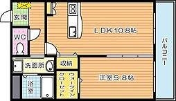 エラン黒崎[3階]の間取り