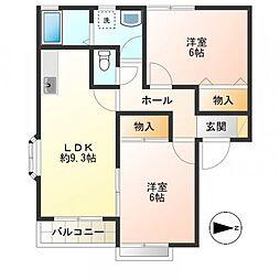 東京都調布市佐須町4丁目の賃貸アパートの間取り