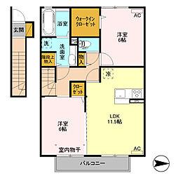 (仮)D-room高井町[205号室]の間取り