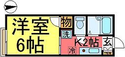 東京都葛飾区東新小岩7の賃貸アパートの間取り