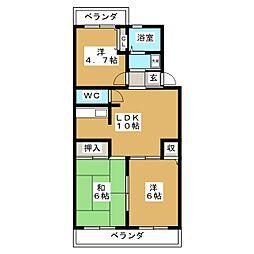 JEAN PALACE 21[4階]の間取り