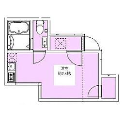 カサーディア蒲田  bt[103kk号室]の間取り