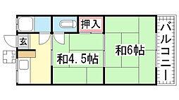 SUZURANDAI-SOUTH[A-103号室]の間取り
