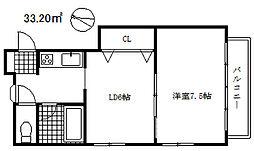 アパートメントケー[2階]の間取り
