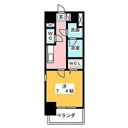 愛知県名古屋市西区康生通2丁目の賃貸マンションの間取り