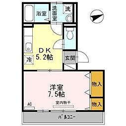 広島県呉市広古新開4丁目の賃貸アパートの間取り