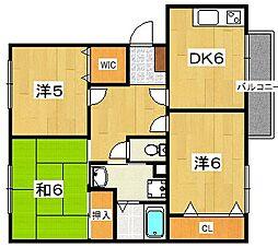 バンブーハイム[1階]の間取り