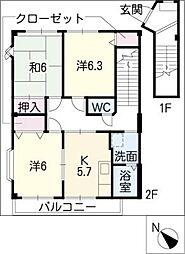 ハイステージKOJIMA[2階]の間取り