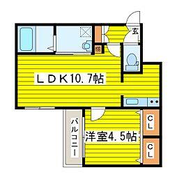 札幌市営東豊線 北13条東駅 徒歩3分の賃貸マンション 1階1LDKの間取り