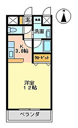 casa Rosso[202号室号室]の間取り
