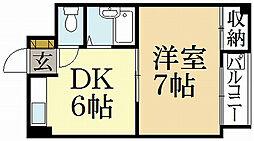 西賀茂ロイヤルリバーマンション[2階]の間取り