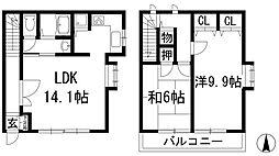 エスポワール桜ケ丘[1階]の間取り