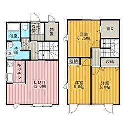 [テラスハウス] 北海道江別市東光町 の賃貸【/】の間取り