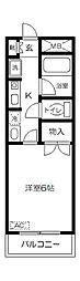 東京都府中市白糸台3丁目の賃貸マンションの間取り