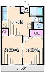 神奈川県横浜市港北区新吉田東6丁目の賃貸アパートの間取り