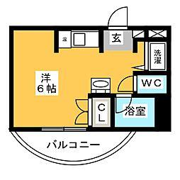 パンルネックス・クリスタル博多I[3階]の間取り