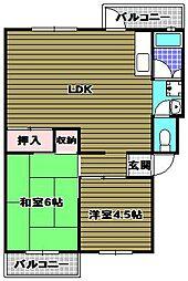 茶山台B団地[2階]の間取り