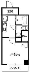 愛知県名古屋市昭和区北山町2丁目の賃貸マンションの間取り