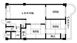 東朋第一マンション[307号室]の間取り