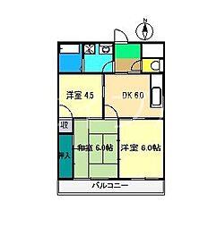 中ノ内マンション[2階]の間取り