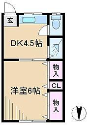 メゾン平松[3階]の間取り