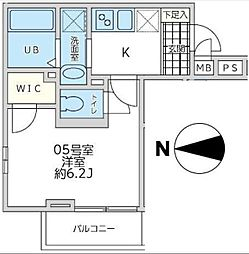 東京都八王子市元横山町1丁目の賃貸アパートの間取り
