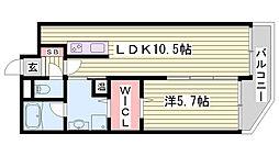兵庫県明石市大久保町大窪の賃貸マンションの間取り